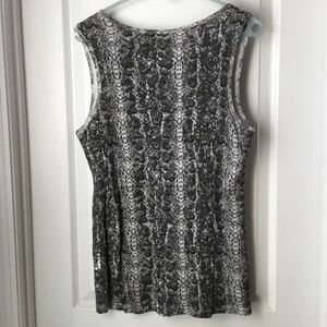 New Directions Tops - Sequined Animal Print Tank from New Directions XL